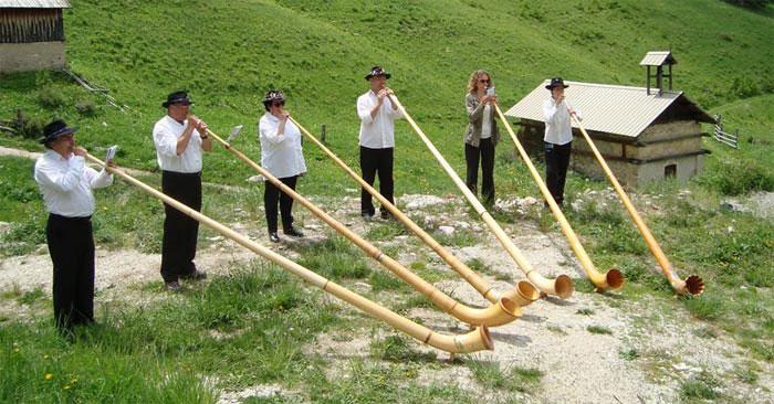 Concert de sonneurs de cors des Alpes