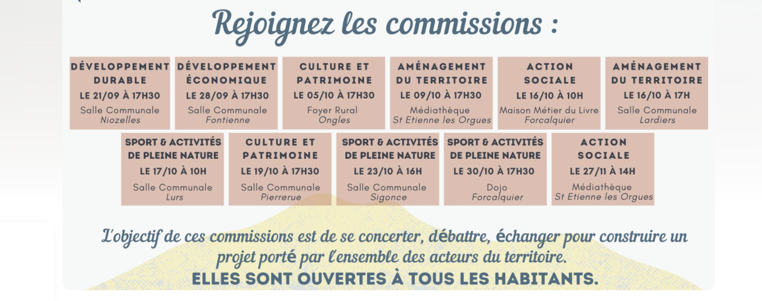 [info] Commission aménagement du territoire