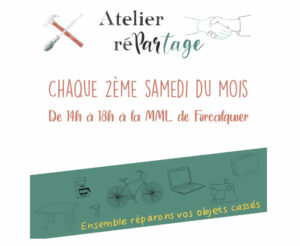 Atelier partagé de réparation @ Maison des métiers du livre, Forcalquier